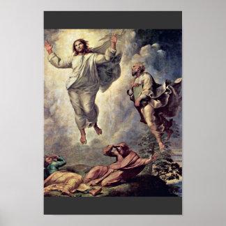 Transfiguración del detalle de Cristo de Raffael Impresiones