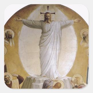 Transfiguración del Fra Angelico- Pegatina Cuadradas