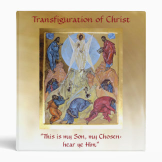 Transfiguration of Christ 3 Ring Binder