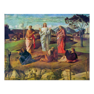 Transfiguration of Christ by Bellini Poster