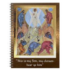Transfiguration of Christ Spiral Notebook