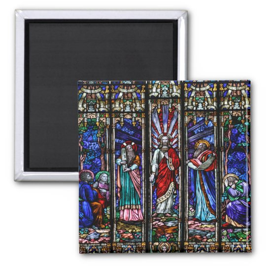 Transfiguration of Jesus Christ Stained Glass Art Magnet