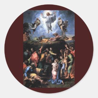 TRANSFIGURATION OF JESUS CLASSIC ROUND STICKER