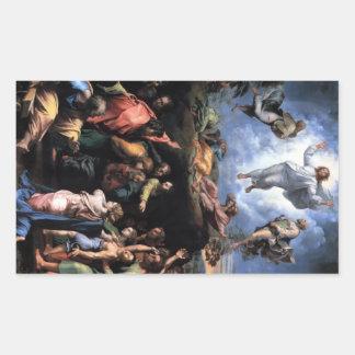 TRANSFIGURATION OF JESUS RECTANGULAR STICKER