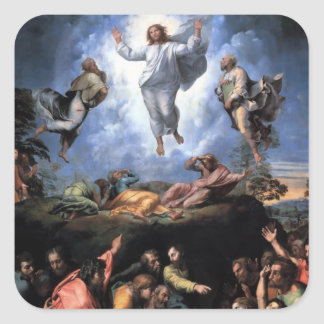 TRANSFIGURATION OF JESUS SQUARE STICKER