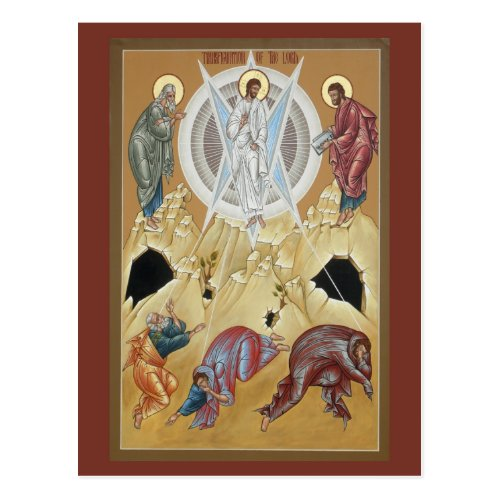 Transfiguration of the Lord Prayer Card