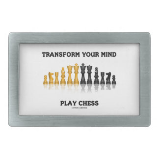 Transform Your Mind Play Chess (Reflective Chess) Rectangular Belt Buckles