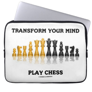 Transform Your Mind Play Chess (Reflective Chess) Laptop Sleeve