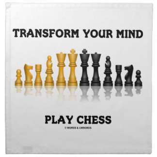 Transform Your Mind Play Chess (Reflective Chess) Napkin