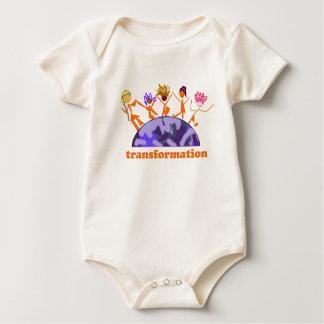 Transformación de la tierra body para bebé