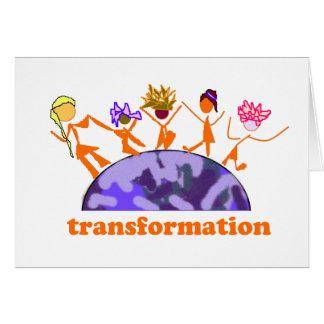 Transformación de la tierra tarjeta de felicitación