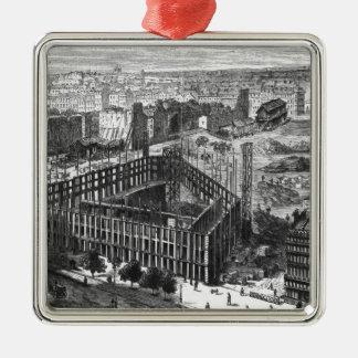 Transformación de París: Construcción en 1861 Ornamento Para Arbol De Navidad