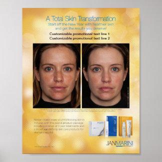 """Transformación total 8x10 de la piel """" póster"""