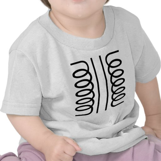 Transformador eléctrico - negro camisetas