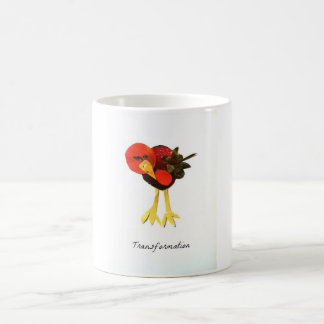 Transformation Bird Magazine Collage Coffee Mug