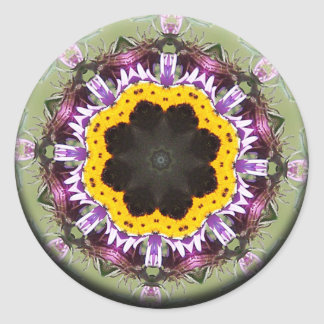 Transformation Blooms Mandala Classic Round Sticker