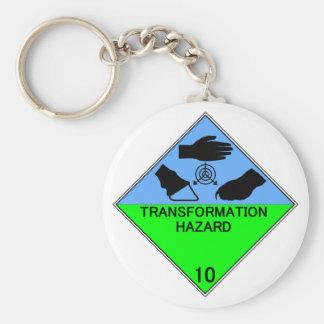 Transformation Hazard Keychain