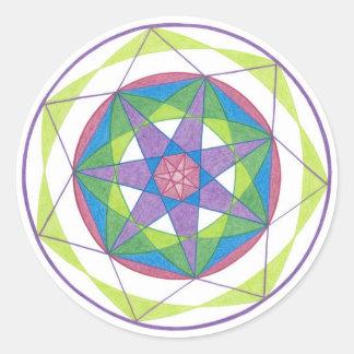Transformation Mandala Sticker