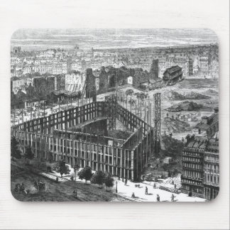 Transformation of Paris: Building in 1861 Mouse Pad