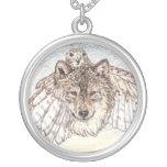 Transformation Wolf Round Pendant Necklace