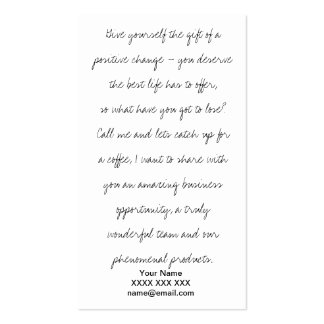 Transformational Opportunity Business Card