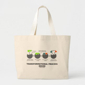 Transformational Process Inside (Enzyme Substrate) Tote Bags