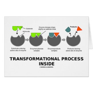 Transformational Process Inside (Enzyme Substrate) Greeting Cards