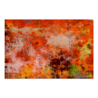 Transformations I Orange Browns Yellow Abstract Poster