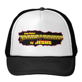 Transformed by Jesus Christian design Mesh Hats