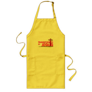 Transformed By JESUS Long Apron