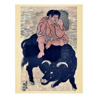 Transformed Kusakari Sanro by Torii, Kiyonaga Ukiy Postcard