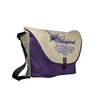 Transformed, Pretty Butterfly Christian Womens Bag Courier Bag