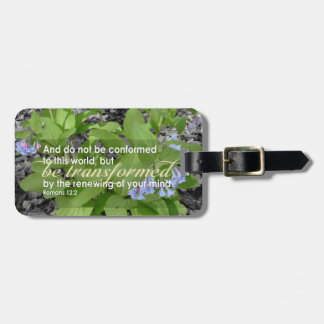 Transformed Romans 12:2 Christian Bible Floral Tags For Luggage