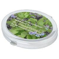 Transformed Romans 12:2 Christian Bible Floral Mirror For Makeup
