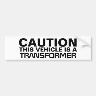 Transformer Car Bumper Sticker
