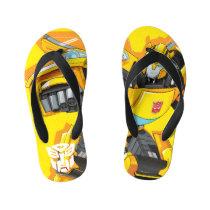 Transformers | Bumblebee Punching Pose Kid's Flip Flops