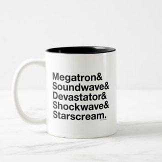 Transformers   Decepticons Ampersand Two-Tone Coffee Mug