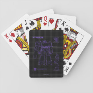 Transformers | Megatron Leader of the Decepticons Playing Cards