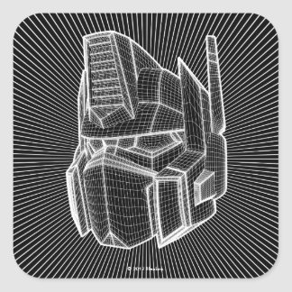 Transformers | Optimus Prime 3D Model Square Sticker