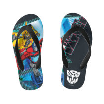 "Transformers | Optimus Prime & Bumblebee ""Battle"" Kid's Flip Flops"
