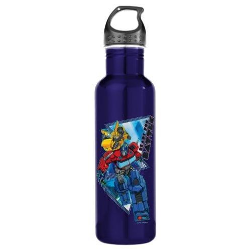 "Transformers | Optimus Prime & Bumblebee ""Battle"" Stainless Steel Water Bottle"