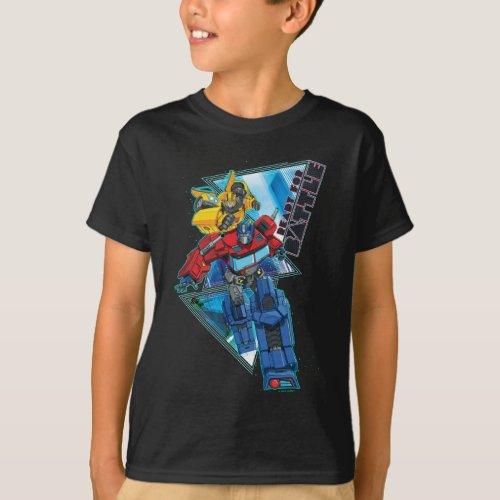 Transformers  Optimus Prime  Bumblebee Battle T_Shirt