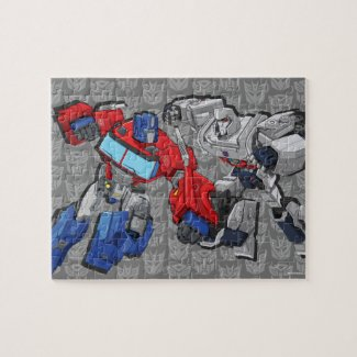 Transformers | Optimus Prime Fighting Megatron Jigsaw Puzzle