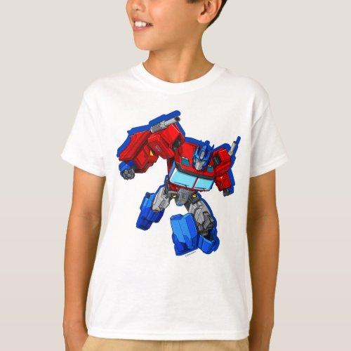 Transformers  Optimus Prime Running Pose T_Shirt