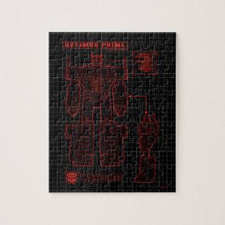 Transformers | Optimus Prime Schematic Jigsaw Puzzle