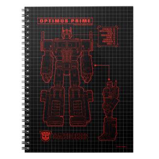 Transformers | Optimus Prime Schematic Notebook