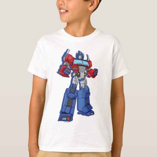 Transformers  Optimus Prime Standing Pose T_Shirt