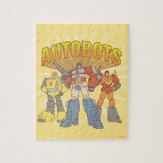 Transformers | Retro Autobots Group Graphic - Kids Jigsaw Puzzle