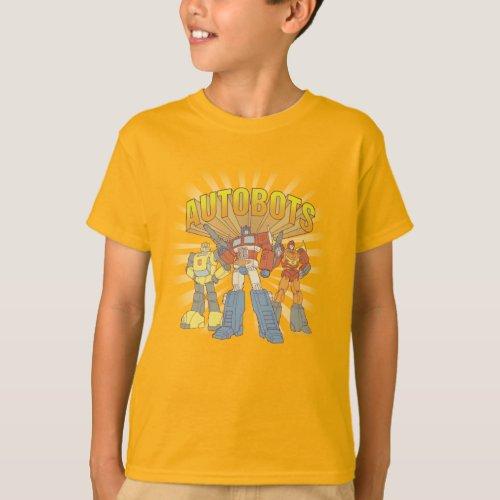 Transformers  Retro Autobots Group Graphic T_Shirt