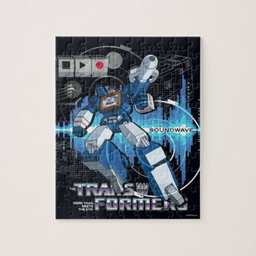 Transformers  Soundwave Iconography Collage Jigsaw Puzzle